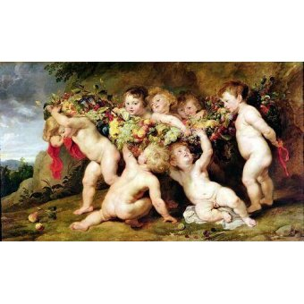 - Cuadro -Garland of Fruit, c.1615-17- - Rubens, Peter Paulus