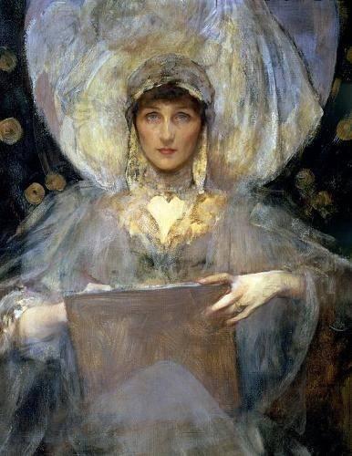 cuadros-de-retrato - Cuadro -Violet, Duchess of Rutland- - Shanon, Sir James