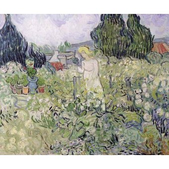 - Cuadro -Mademoiselle Gachet in her garden at Auvers-sur-Oise, 1890- - Van Gogh, Vincent