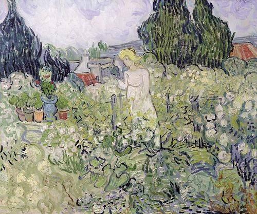 cuadros-de-retrato - Cuadro -Mademoiselle Gachet in her garden at Auvers-sur-Oise, 1890- - Van Gogh, Vincent