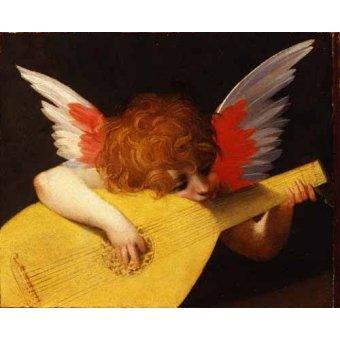 - Cuadro -Angel tocando el laúd- - Fiorentino, Rosso