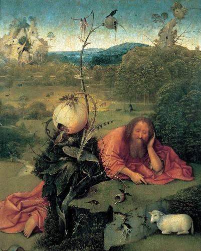 cuadros-religiosos - Cuadro -San Juan Bautista en meditación- - Bosco, El (Hieronymus Bosch)