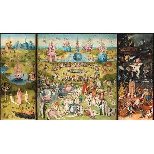 cuadros de paisajes - Cuadro -El Jardin De Las Delicias (Tríptico completo).-