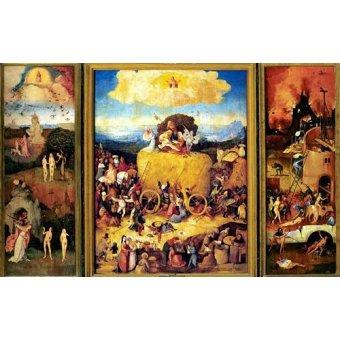 - Cuadro -El Carro De Heno (Tríptico completo)-. - Bosco, El (Hieronymus Bosch)