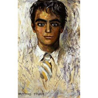 - Cuadro -Retrato de Federico Garcia Lorca- - Sorolla, Joaquin