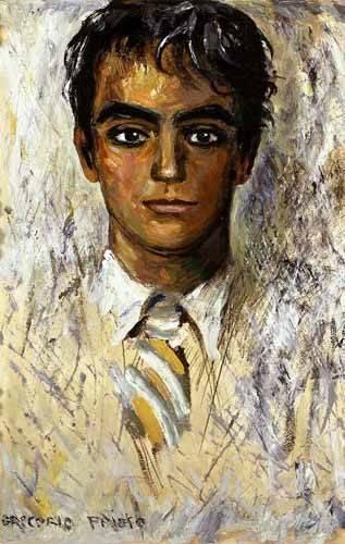 cuadros-de-retrato - Cuadro -Retrato de Federico Garcia Lorca- - Sorolla, Joaquin