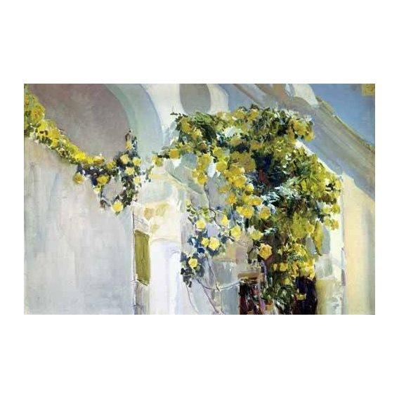 cuadros de paisajes - Cuadro -Jardin de la casa del artista (I)-