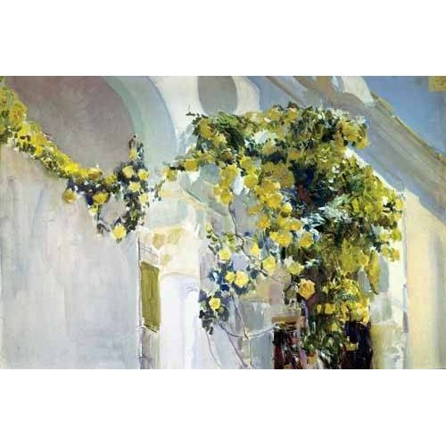 Cuadro -Jardin de la casa del artista (I)-