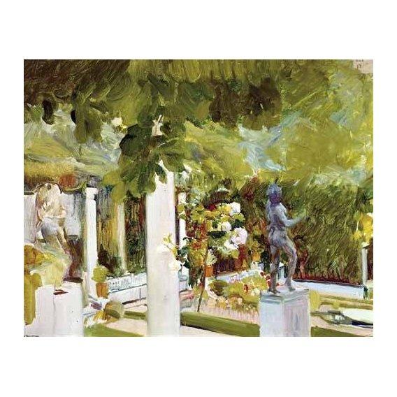 cuadros de paisajes - Cuadro -Jardin de la casa del artista (II)-