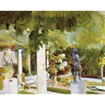 - Cuadro -Jardin de la casa del artista (II)- - Sorolla, Joaquin
