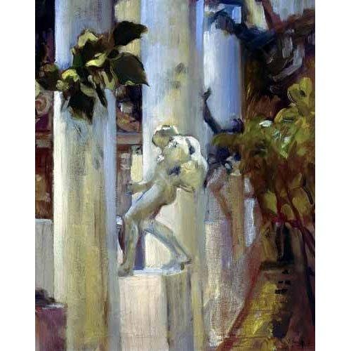 cuadros de paisajes - Cuadro -Jardin de la casa del artista (III)-