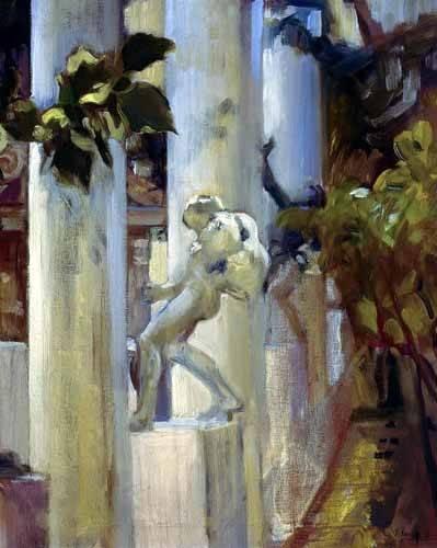 cuadros-de-paisajes - Cuadro -Jardin de la casa del artista (III)- - Sorolla, Joaquin
