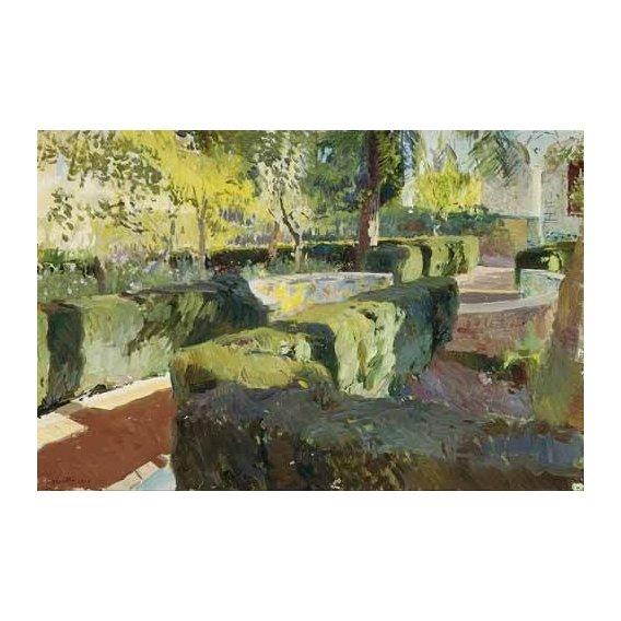 cuadros de paisajes - Cuadro -Jardin de la casa del artista (IV)-