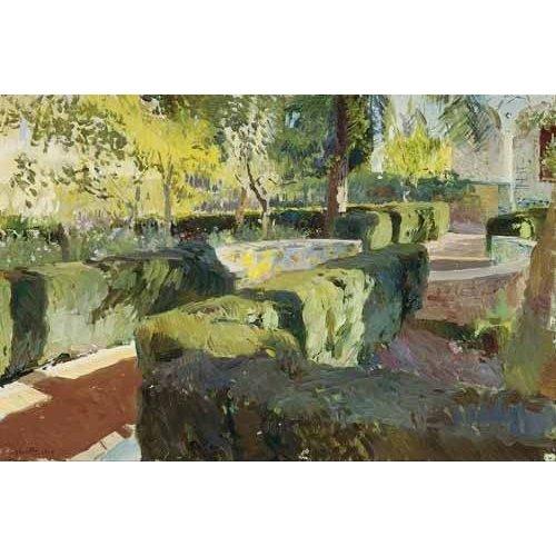 Cuadro -Jardin de la casa del artista (IV)-