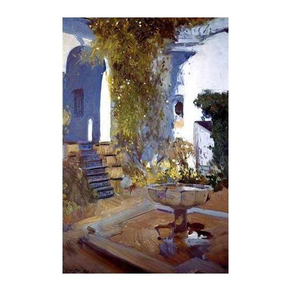 cuadros de paisajes - Cuadro -Jardin de la casa del artista (V)-