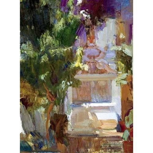 cuadros de paisajes - Cuadro -Jardin de la casa del artista (VII)-