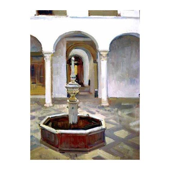 cuadros de paisajes - Cuadro -Jardines del Alcazar de Sevilla-.