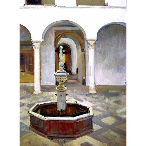 Cuadro -Jardines del Alcazar de Sevilla-.