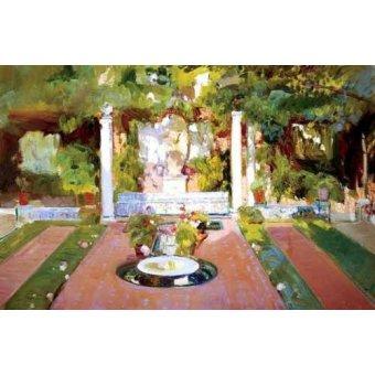 Cuadro -Jardin de la casa del artista (VIII)- - Sorolla, Joaquin