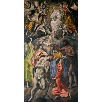- Cuadro -El Bautismo De Cristo- - Greco, El (D. Theotocopoulos)