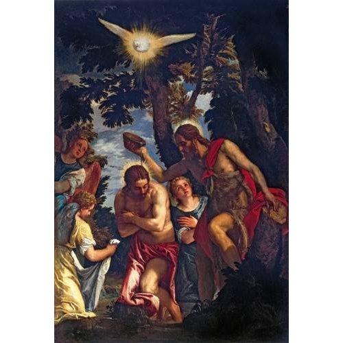 cuadros religiosos - Cuadro -El Bautismo De Cristo-