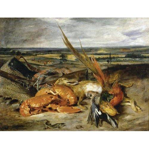 Cuadro -Bodegón con langosta, 1827-