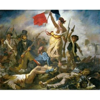 cuadros de retrato - Cuadro -28 de Julio, La Libertad Guiando Al Pueblo- - Delacroix, Eugene
