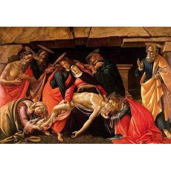 cuadros religiosos - Cuadro -Lamentación de Cristo- - Botticelli, Alessandro