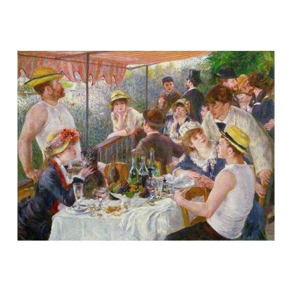 cuadros de bodegones - Cuadro -El almuerzo de los remeros, 1881-