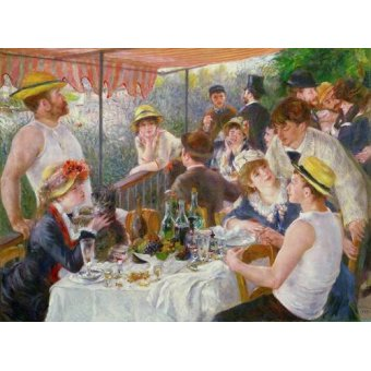 cuadros de retrato - Cuadro -El almuerzo de los remeros, 1881- - Renoir, Pierre Auguste