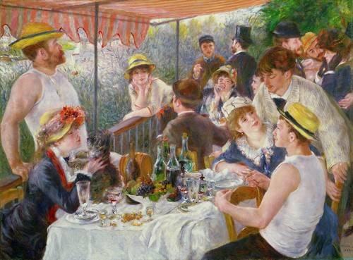 cuadros-de-bodegones - Cuadro -El almuerzo de los remeros, 1881- - Renoir, Pierre Auguste