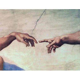 - Cuadro -Manos de Dios y Adán, detalle de la Creación- - Buonarroti, Miguel Angel