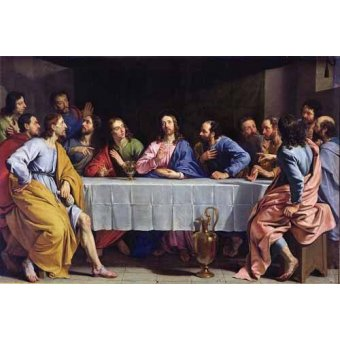 cuadros religiosos - Cuadro -La Ultima Cena- - Champaigne, Philippe de