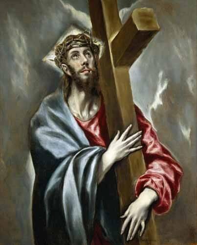 cuadros-religiosos - Cuadro -Cristo portando la Cruz- - Greco, El (D. Theotocopoulos)