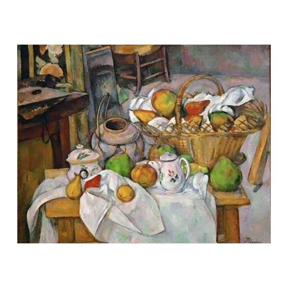 cuadros de bodegones - Cuadro -Bodegón con cesto de fruta-