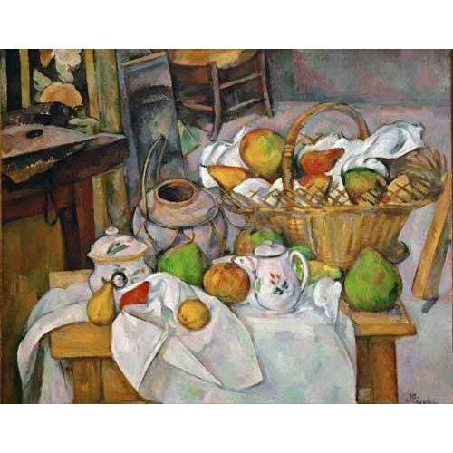 Cuadro -Bodegón con cesto de fruta-