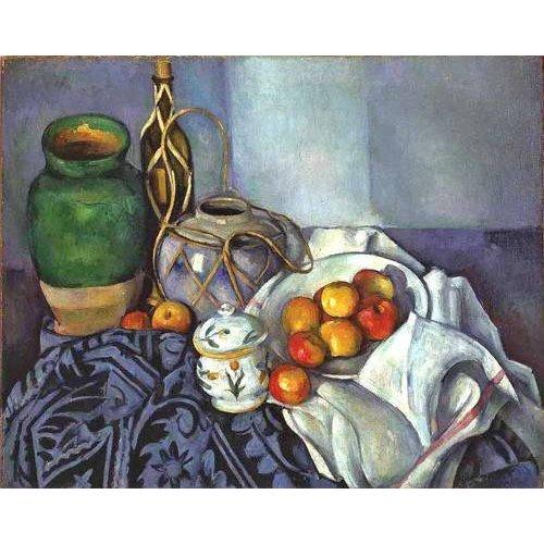 Cuadro -Bodegón con ollas y frutas (1890)-