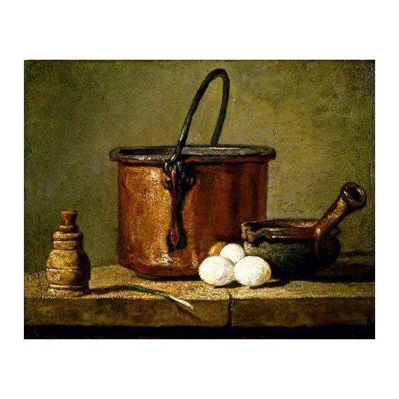 cuadros de bodegones - Cuadro -Utensilios de cocina-