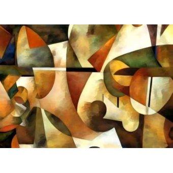 cuadros abstractos - Cuadro -Moderno CM1284- - Medeiros, Celito