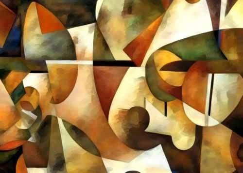 cuadros-abstractos - Cuadro -Moderno CM1284- - Medeiros, Celito