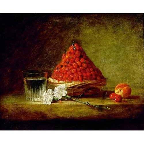 Cuadro -Cesto con fresas salvajes-
