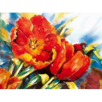 cuadros de flores - Cuadro -Moderno CM1373- - Medeiros, Celito