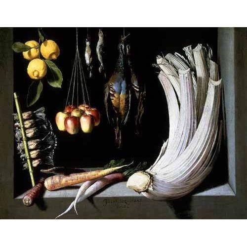 Cuadro -Caza, fruta y hortalizas -