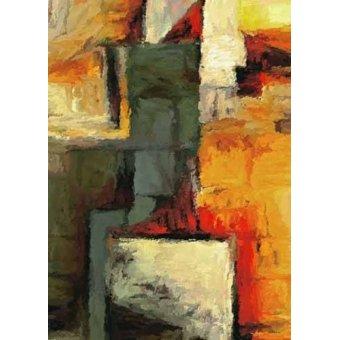 cuadros abstractos - Cuadro -Moderno CM1719- - Medeiros, Celito