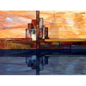 cuadros abstractos - Cuadro -Moderno CM1795- - Medeiros, Celito