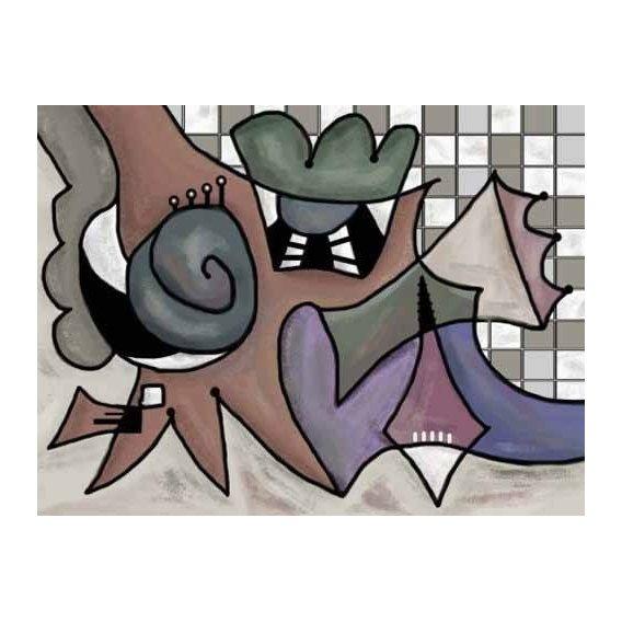 cuadros abstractos - Cuadro -Moderno CM1810-