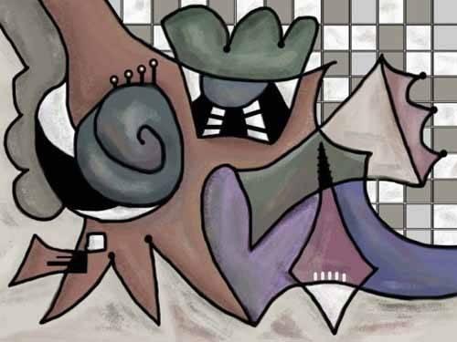 cuadros-abstractos - Cuadro -Moderno CM1810- - Medeiros, Celito