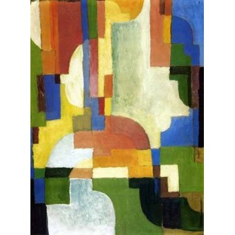 cuadros abstractos - Cuadro -Colored forms-1- - Macke, August