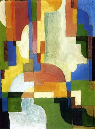 cuadros-abstractos - Cuadro -Colored forms-1- - Macke, August