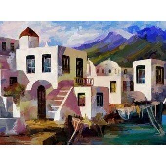 cuadros de paisajes - Cuadro -Moderno CM1926- - Medeiros, Celito